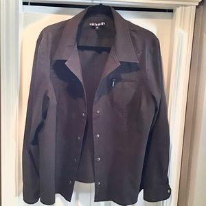 PLUS size - Dalia Woman Chocolate Stretch Jacket